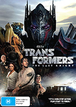 Transformers: The Last Knight DVD cover