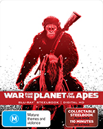 War For The Planet Of The Apes JB Hi-Fi Exclusive Artwork Steel case