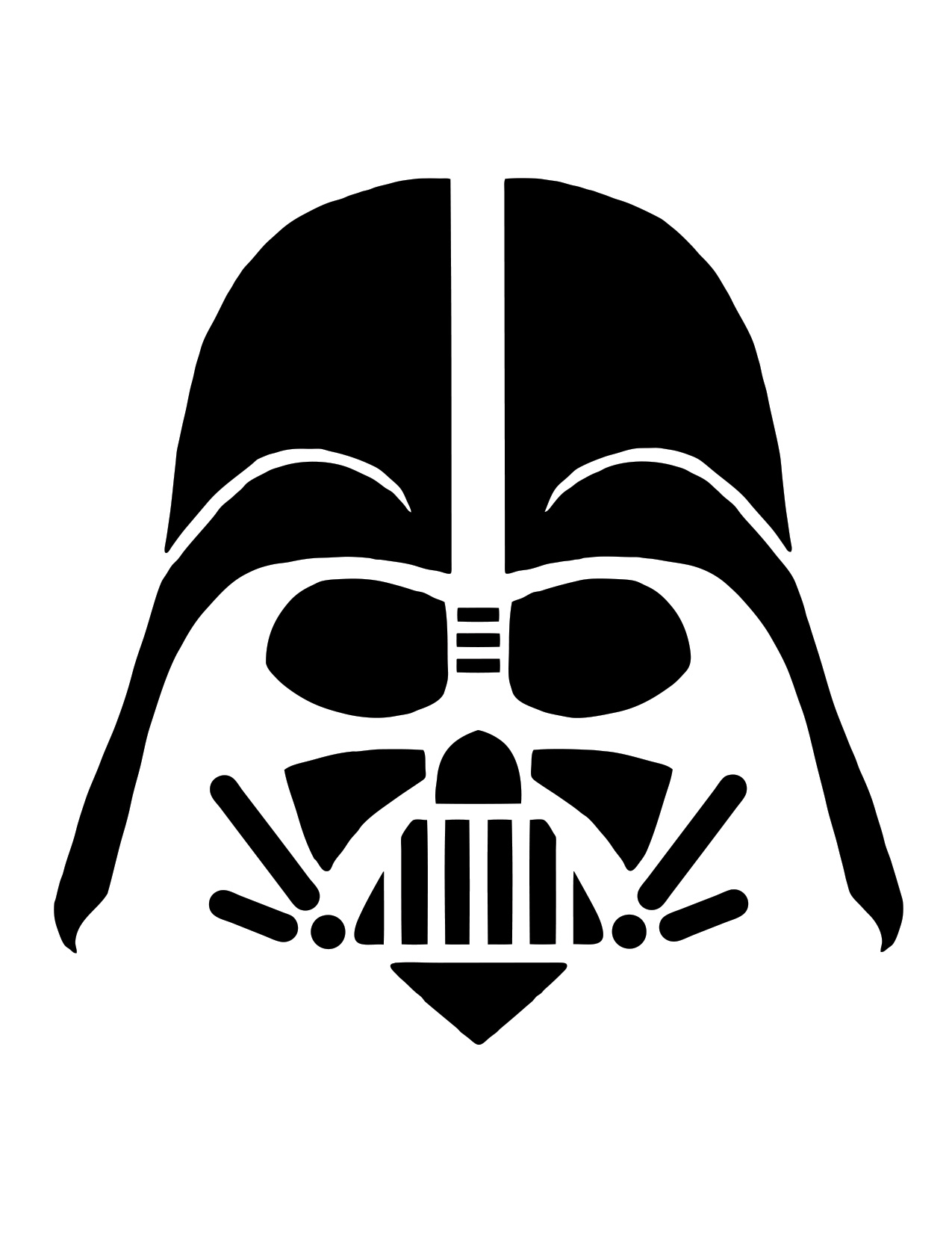 image relating to Star Wars Pumpkin Stencils Printable named 12 Star Wars pumpkin carving stencils - STACK JB Hello-Fi