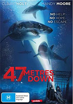 47 Metres Down DVD COver
