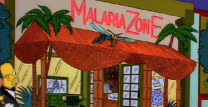 Springfield eateries - Malaria Zone