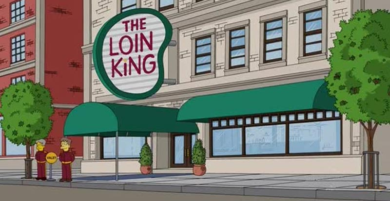 Springfield eateries - The Loin King
