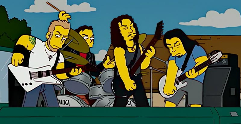 The Simpsons S18 - Metallica