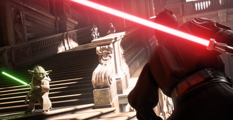 In the modes with Star Wars Battlefront II