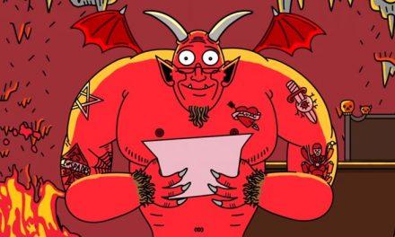 Patrick Stewart narrates a note to Sant- erm, Satan