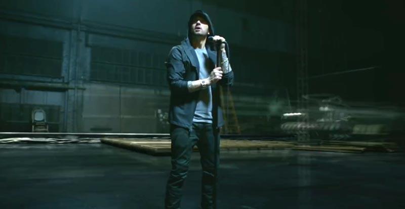 Eminem 'Walk on Water' clip splashes down