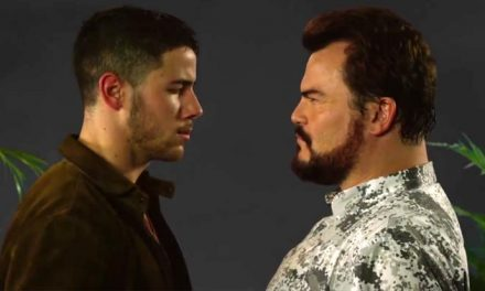 Jack Black and Nick Jonas drop awesome cheesy Jumanji theme