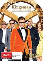 Kingsman GOlden Circle The DVD COver