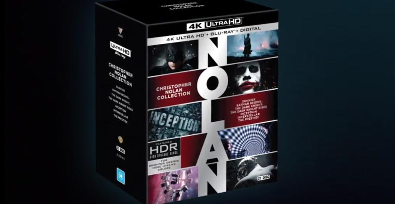 JB exclusive Christopher Nolan 4K Ultra HD box out now!