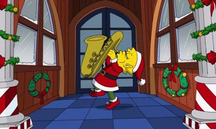 Snashing through the… D'oh! The Simpsons Christmas intro