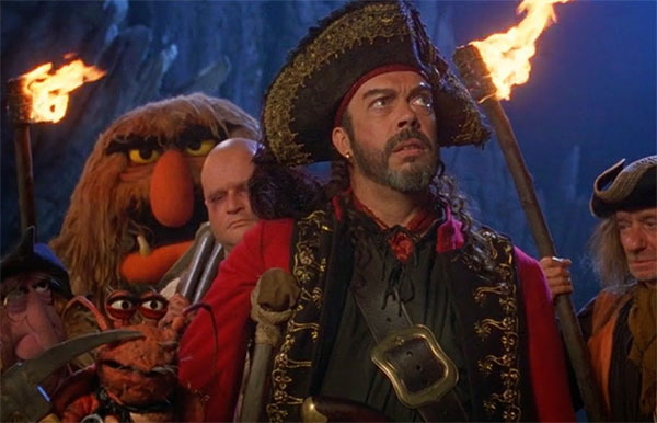 Tim Curry in the Muppets Treasure Island