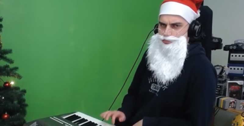 This guy absolutely sleighs video game Christmas song parodies