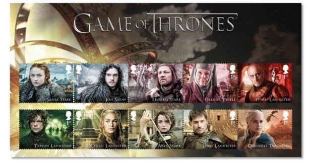 GoT stamps? Game of Thrones goes postal!