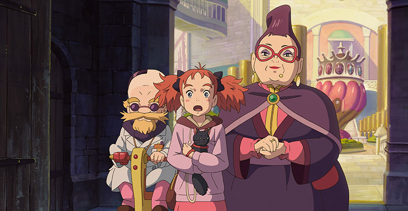Mary and the Witch's Flower scene
