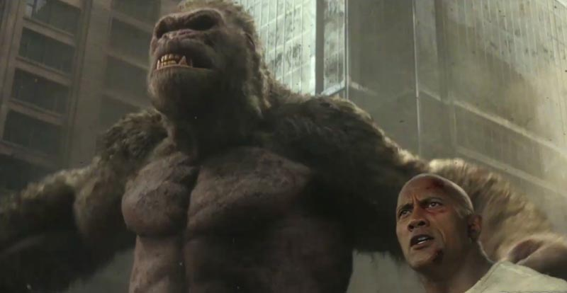 Go ape (and wolf, and lizard) with the new Rampage trailer