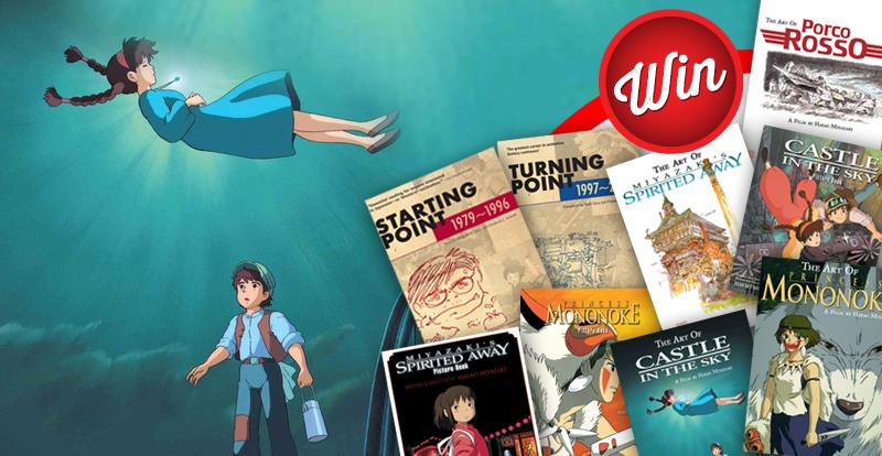 Win a stunning pack of nine Studio Ghibli art books