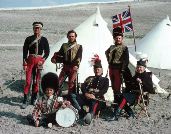 Actors in the CHarge of the Light Brigade on set