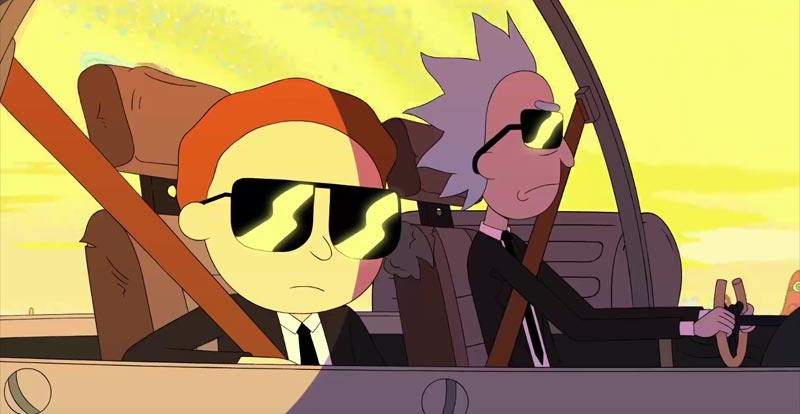 Rick and Morty go MiB in new music vid