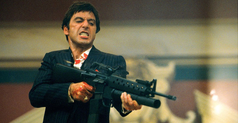 Well, I didn't know that! – Scarface (1983)