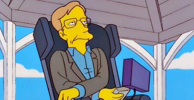 The Simpsons' Stephen Hawking tribute