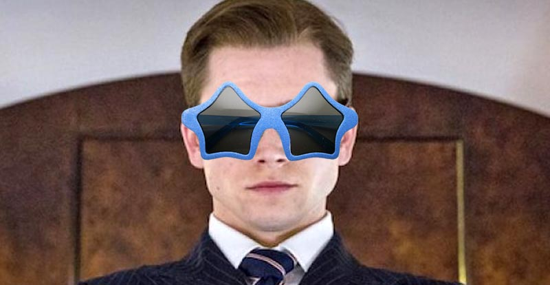 Elton John getting Eggsy in his place
