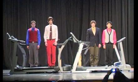 Watch four highschoolers nail the OK Go treadmill clip