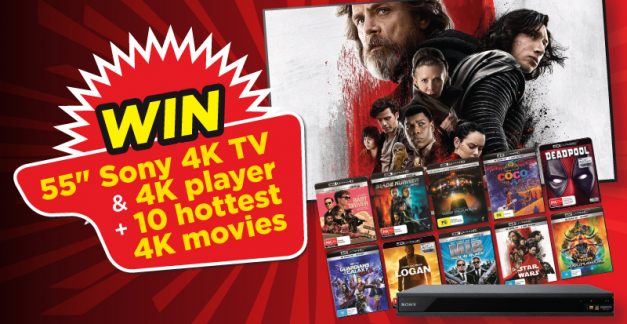 """STACK member competition: 55"""" Sony 4K TV, 4K player & 10 hottest 4K movies!"""