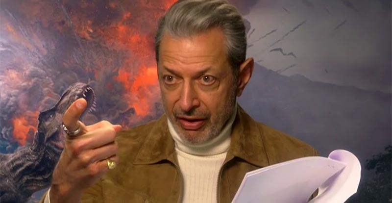 Jeff Goldblum's one-man Jurassic Park