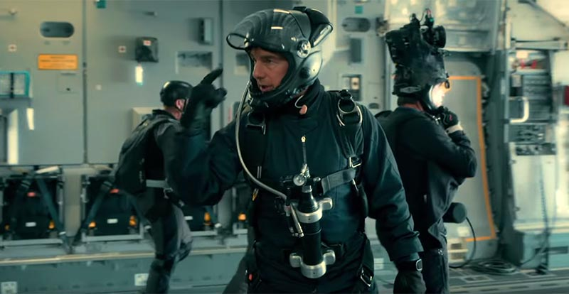 HALO Tom! Cruise's Mission: Impossible – Fallout jump stunt