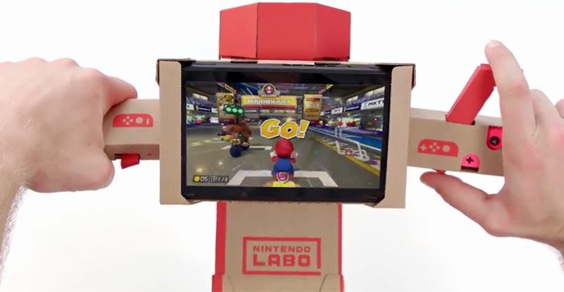 Mario Kart and Nintendo Labo collide!