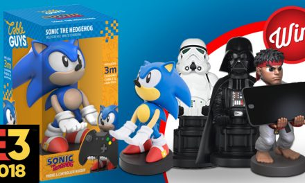 Win one of four Cable Guys device holders; Sonic, Ryu, Storm Trooper or Darth Vader