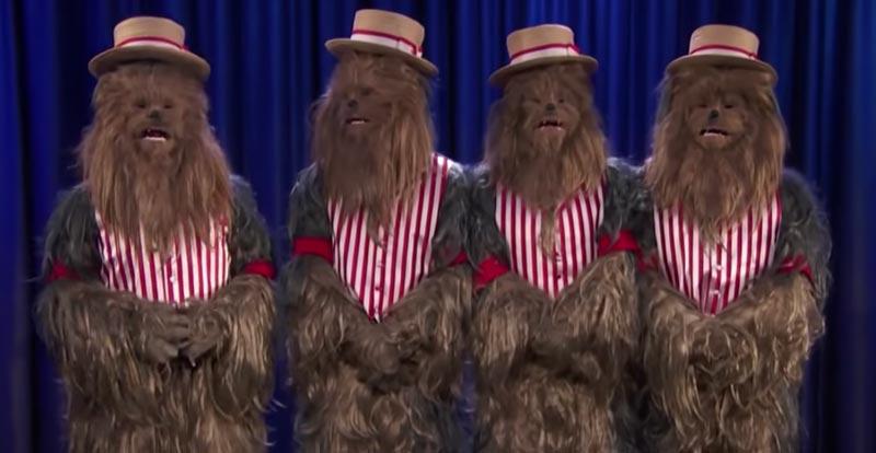 Move over Pitch Perfect, it's Chewbaccapella time!