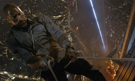 The Rock keeps swinging in new Skyscraper clip