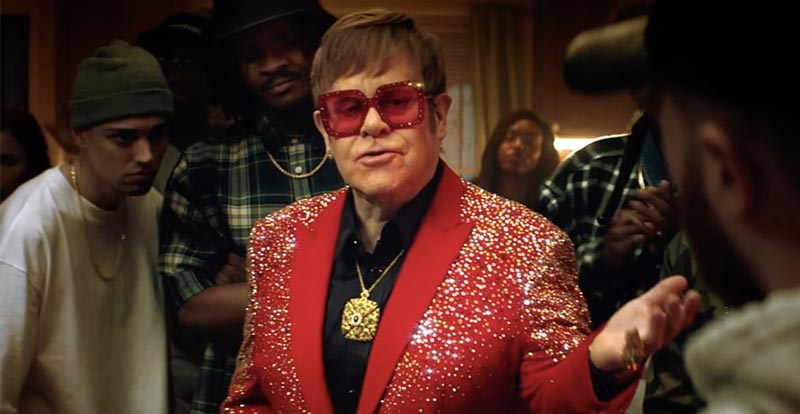 Elton John is down for a Snickers rap battle