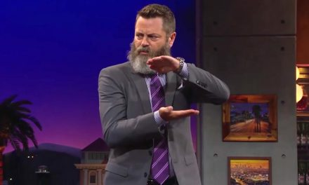 Watch Nick Offerman breakdance. Really!