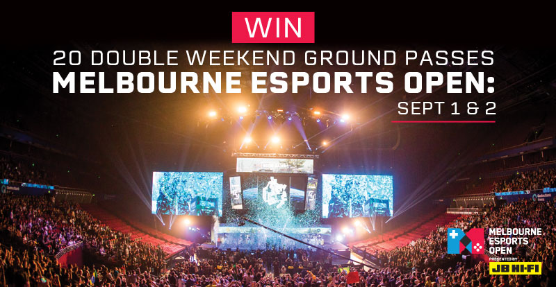 Win: 20 double weekend ground passes to Melbourne Esports Open