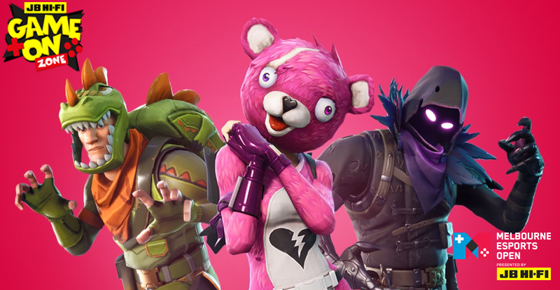 Fortnite dropping on the Melbourne Esports Open