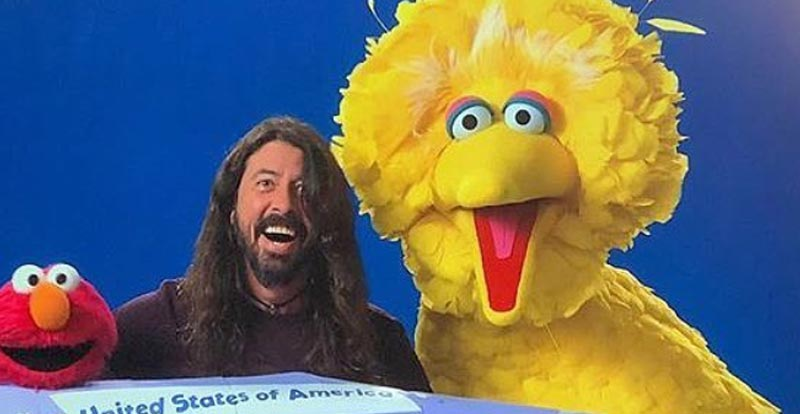 Dave Grohl finds how to get to Sesame Street