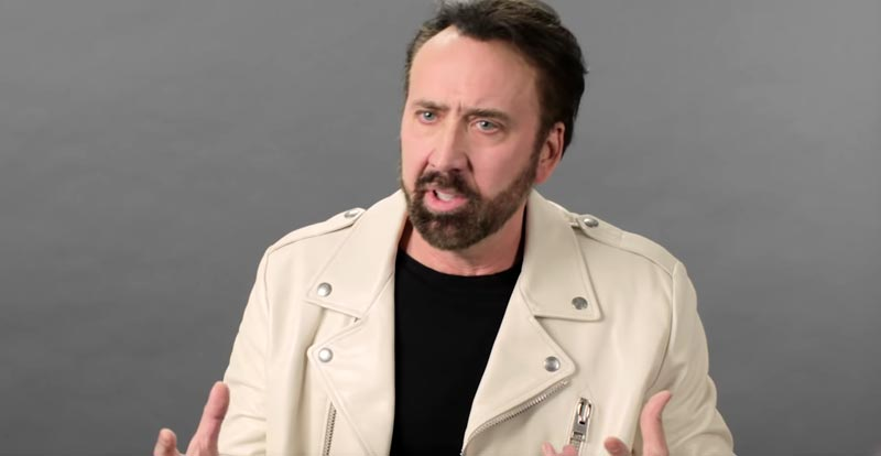Nic Cage on some of his most iconic characters