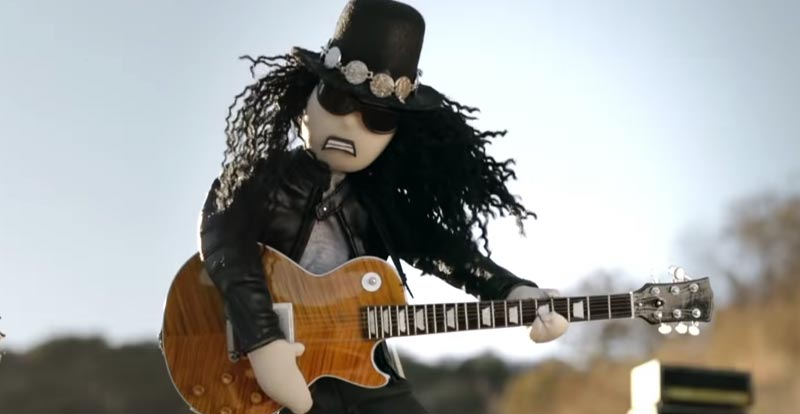 Slash gets animated in the cold 'Driving Rain'