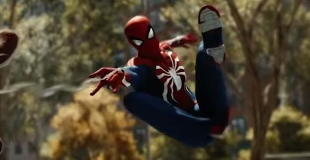 Fighting as Spider-Man in the new PS4 epic