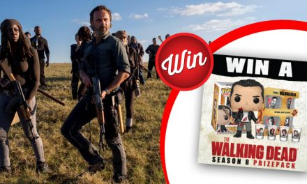 Drink like a zombie when you win this Walking Dead prize-pack