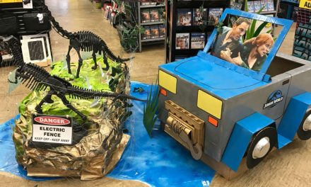 Jurassic World: Fallen Kingdom handmade in-store display gallery