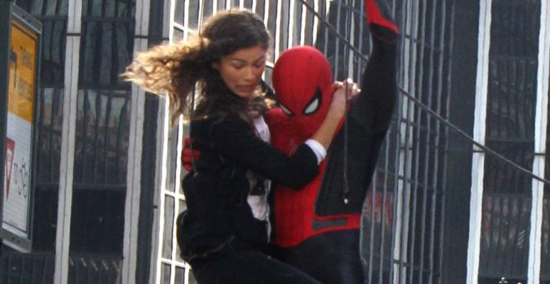 Spies spy Spider-Man: Far from Home filming