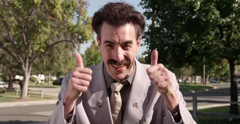 "Borat returns to ""tampon"" with US election"