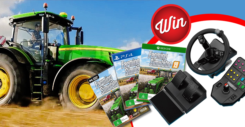 Win a Logitech G Heavy Equipment Bundle for Farming Simulator 19, plus the game!