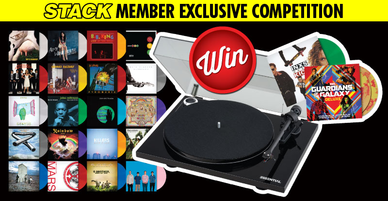 Win 22 coloured vinyl albums and a Pro-Ject turntable
