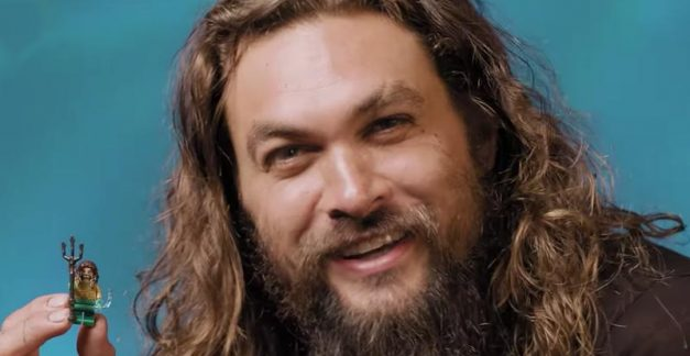 Jason Momoa digs his LEGO Aquaman twin