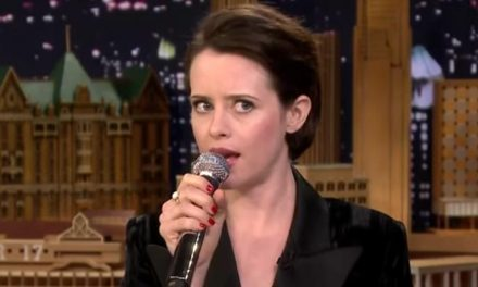Claire Foy drops a right royal rap