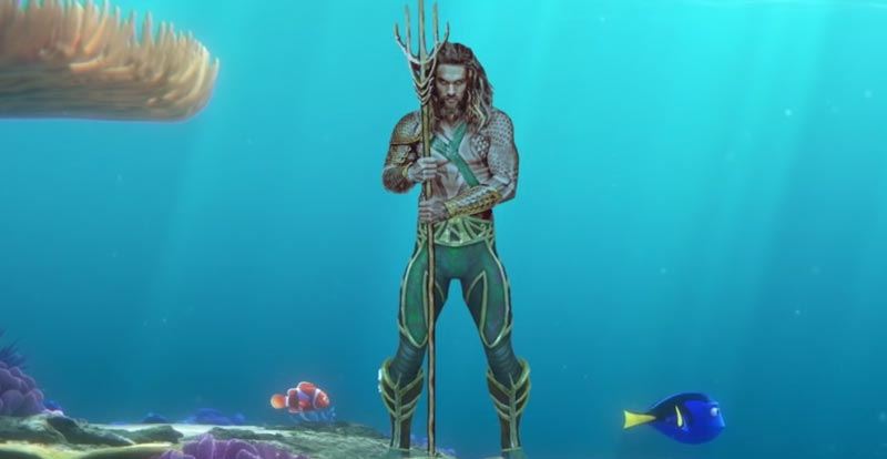 Fishy movie mashup – Finding Aquaman